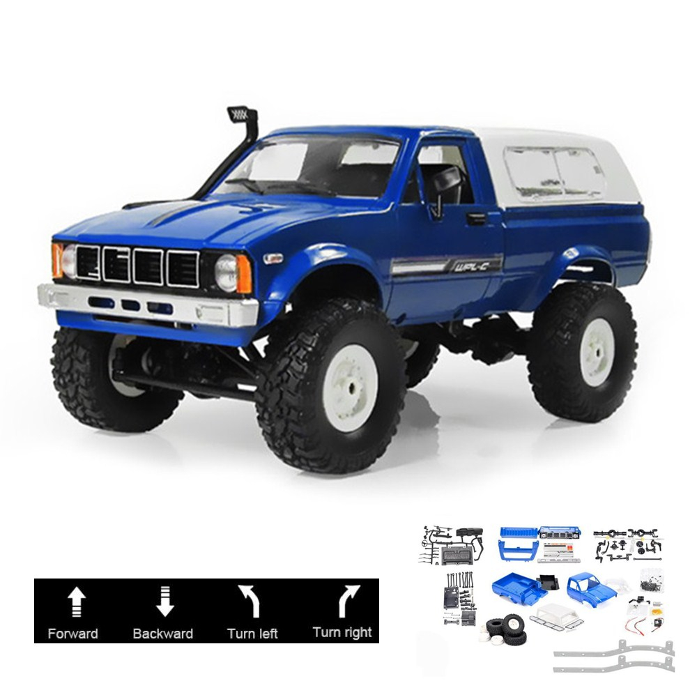 WPL C24 2.4G DIY RC Trucks KIT Remote Control Toys Crawler 4WD Off-Road Buggy Moving Machine Kids Toys Battery Powered RTR Gifts