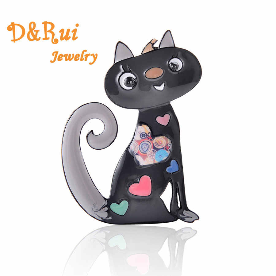 Cute Enamel Cat Brooch Female Pins Fashion Jewelry Zinc Alloy Girls Brooches Classic Women Pin Dress Accessories Party Gifts New