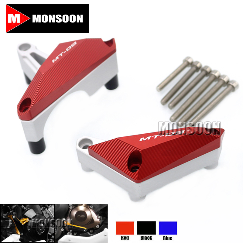 For YAMAHA FZ-09/MT-09 MT09 2014-2015 Motorcycle Engine Protector Guard Cover Frame Slider Red engine bumper guard crash bars protector steel for yamaha mt09 mt 09 fz07 fz 09 2014 2016 2014 2015 2016 motorcycle