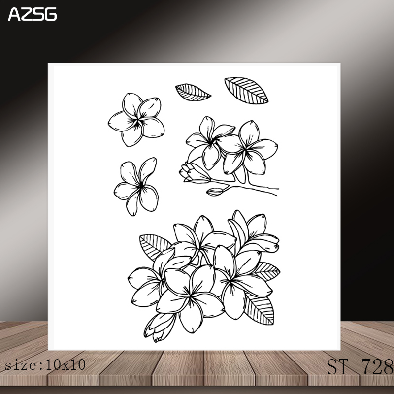 AZSG Flowers And Leaves Dies and Stamps for DIY Scrapbooking Photo Album Decoretive DIY Paper Card Embossing Stencial in Cutting Dies from Home Garden
