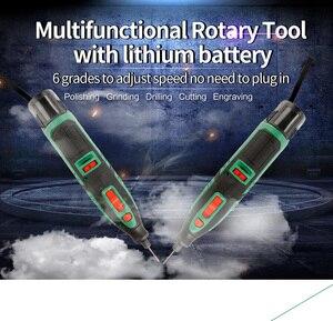 Image 2 - リチウムバッテリー dremel ツール可変速回転工具電動ミニドリル 6 速度グレード 13 とアクセサリー