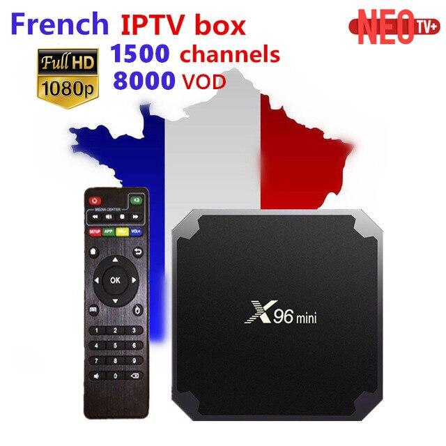 French IPTV X96 mini Android 7 1 Smart TV BOX Neo TV 1G 8G 1500 NEOTV