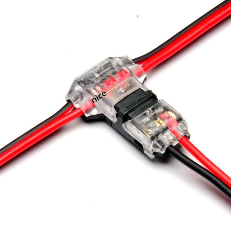 5pcs 2 Pin dc ac 300v 10a 18 22awg no welding no screws Quick Connector cable