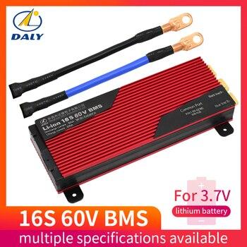 60V li-ion BMS 16S 80A 100A 200A panneau de Protection PCM avec équilibre pour voiture électrique EBike Scooter solaire pour batterie au lithium