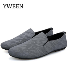 Spring New men's casual loafers shoes breathable light fabric fashion Shoes Men black gray blue flat with cheap shoes