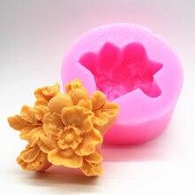 Wholesale Flower Shape Gardenia soap Molds fondant Cake Baking Silicone Handmade Soap Making Mould