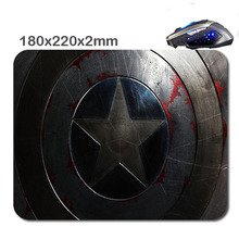 2016 New Arrivals Customized Non-Slip Captain america Rubber Soft 3D Printer Gaming laptop Durable Nice Mouse mat 220*180*2mm