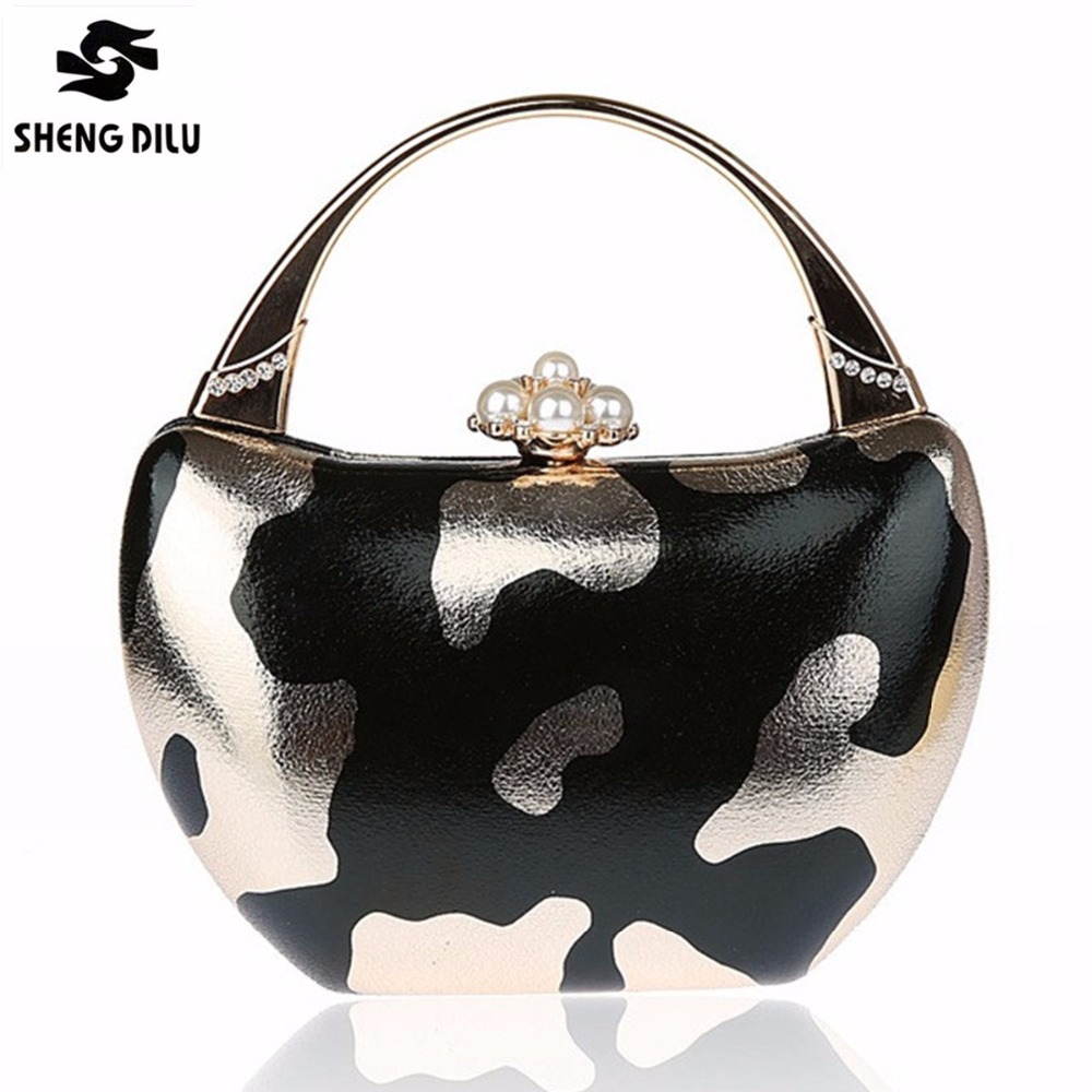 2017 Luxury Shiny Hand Bags Ladies Leopard Clutch Bag Ladies Beaded Wedding Bags Evening Bags For Women Party gold purse Handbag xiyuan brand gold party purse bags women luxury silver crystal evening bags female pochette diamond ladies wedding clutch bags