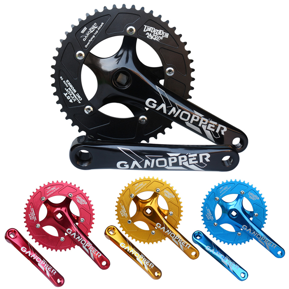 48T black single speed fixed gear Road Bike Crankset Chainring 175mm track bicycle crank set cycling