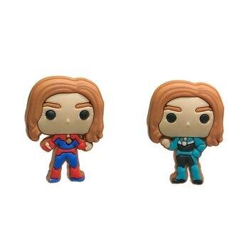 100pcs Wonder Woman PVC Shoe Charms Cool Mini Icon Accessory Buckles Fit Bracelets Action Figure Croc JIBZ Kids Best Gifts