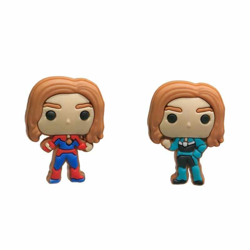 Nowy 1 sztuk Wonder Woman pcv Charms butów superbohater akcesoria klamry Fit bransoletki Croc JIBZ dzieci najlepsze prezenty