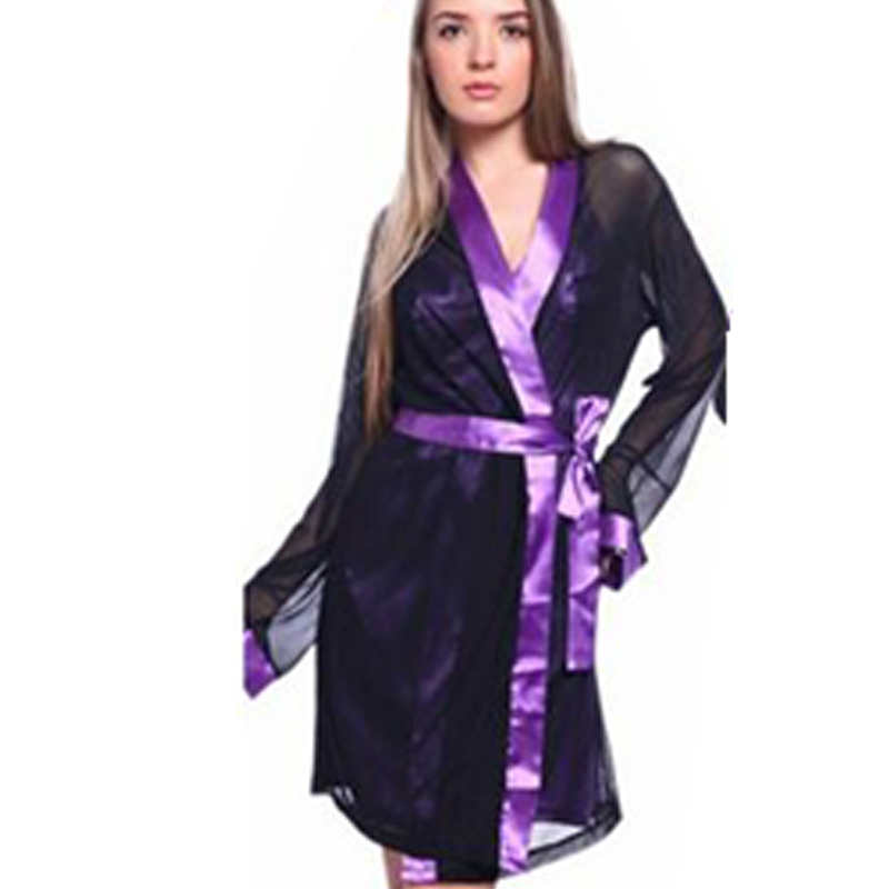 Sexy Bath Robe Woman Lingerie Three Pieces Nightgown Sexy Camisola for Female Erotic Robe Woman Sous Vetement Femme CA262