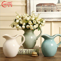 Vintage Flower Vases For Decoration Chinese Porcelain Milk Pot Tall Vase For Homes Wedding Room Accessories Housewarming Gift