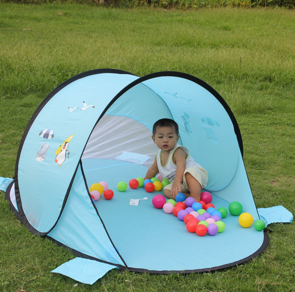 Huge Lovely Outdoor Family Game Play Tents Safe Baby Kids Ball Pool Toy Game Play House Foldable Anti-ultraviolet Beach Tent
