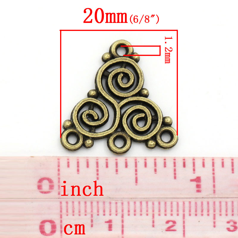 DoreenBeads Alloy Connectors Findings Knot Antique Bronze Flower Hollow Pattern Jewelry DIY Findings Handmade Earrings Charms