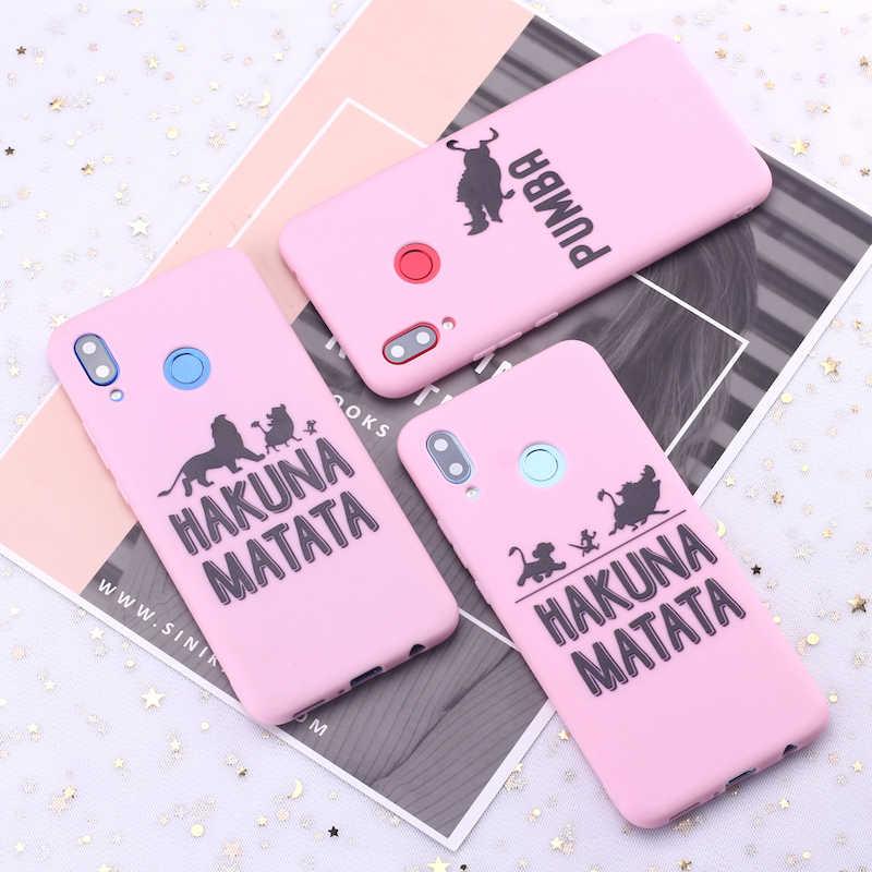 Для samsung S8 S9 S10 S10e Plus, Note 8, 9, 10, A7 A8 Акуна Матата Король Лев матовый Силиконовый чехол для телефона чехол Чехол для мобильного телефона