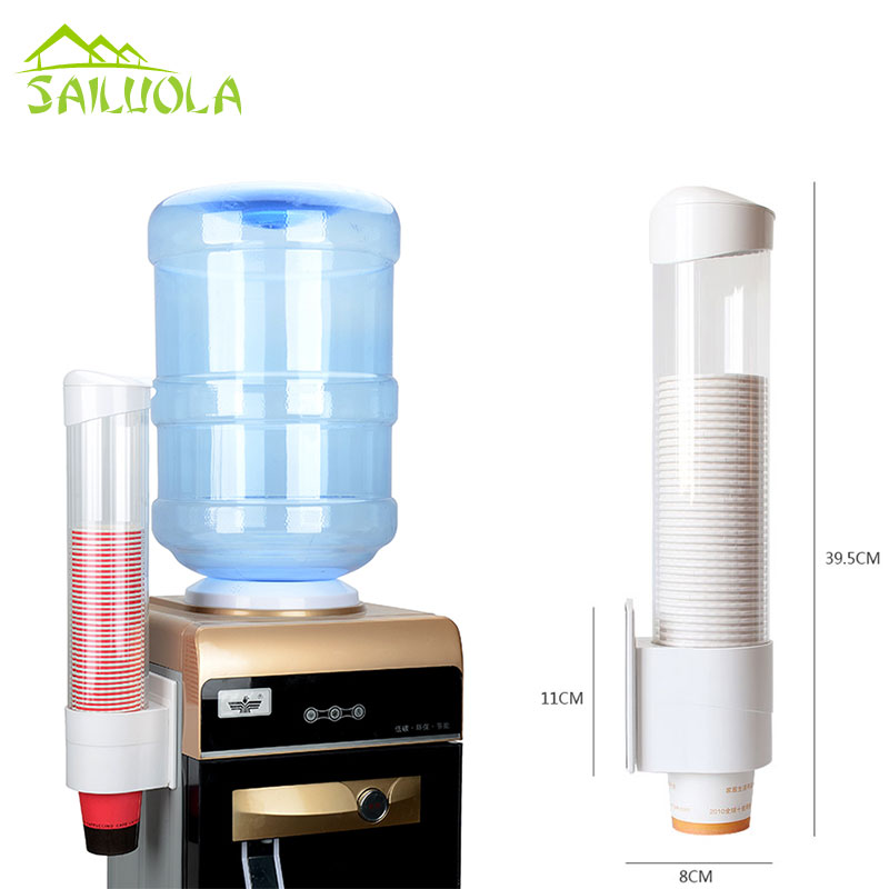 1pc New Plastic Automatic Disposable Paper Cups Dispenser Water Cup Storage Holder Cup Tacking Device