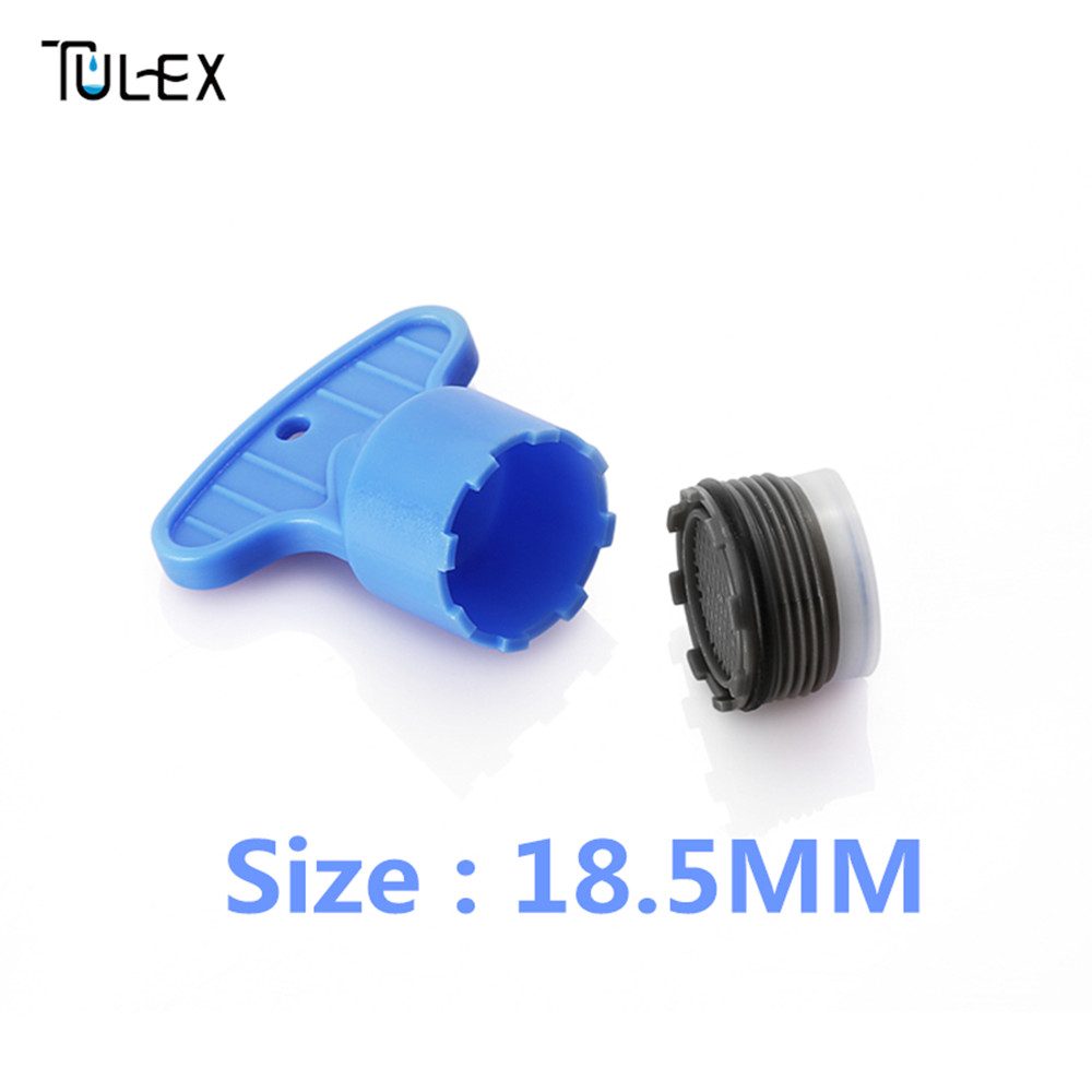 TULEX Faucet Aerator Spout Crane Bubbler Filter Accessories 18.5MM Core Part Hide-in With DIY Install Tool Spanner