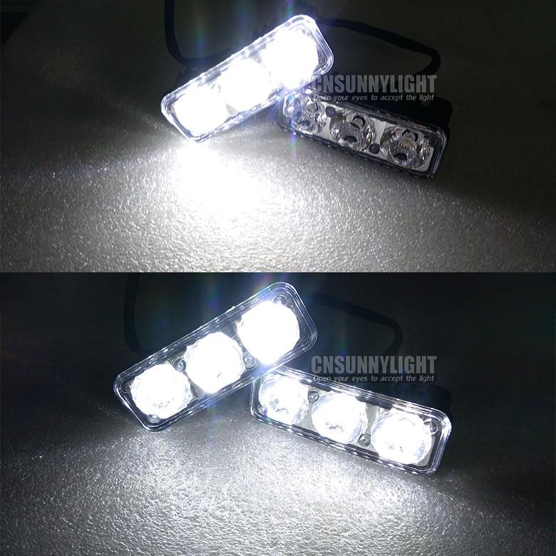 CNSUNNYLIGHT Waterproof Car High Power Aluminum LED Daytime Running Lights with Lens DC12v Xenon White 1set DRL (11)