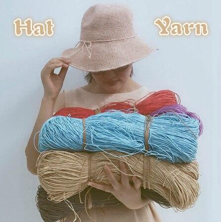 Популярная летняя пряжа для вязания, пряжа для вязания, 500 г/лот, соломенная пряжа для вязания, пряжа для ручной работы, шляпы, корзины для ручной работы, 2019|Пряжа|   | АлиЭкспресс