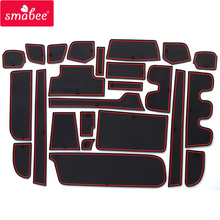 smabee Gate Slot Cup Pad for HONDA STEP WGN Accessories Non Slip Mats Interior Rubber Door Mat Coaster Car Styling Cup Holder