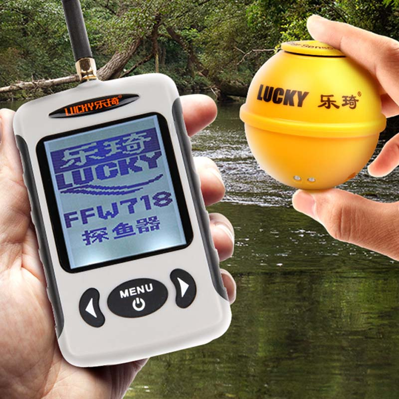 New Professional Waterpoof Wireless Fish Finder 125KHz Frequency Bottom Contour 0.7-45M Fishfinder Sensor Fishing Camera HR russian lucky wireless sonar fish finder river lake sea bed live depth new contour 45m fishfinder fishing finder