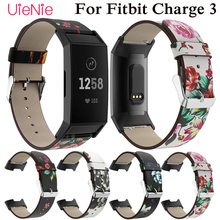 Silicone printing bracelet For Fitbit Charge 3 frontier/classic wriststrap smart watch wristband accessories