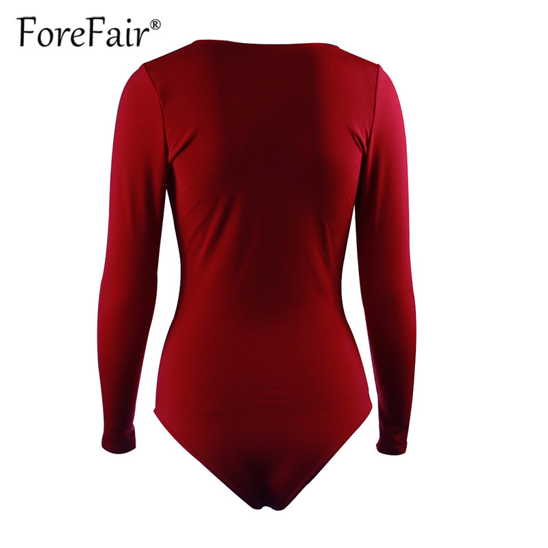 Forefair Sexy Bodysuit For Women Body Top 2019 Spring Autumn Black White Casual Body Woman Skinny V Neck Long Sleeve Bodysuits (7)