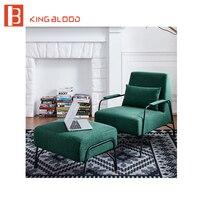 Мебель для дома гостиная модный дизайн ткань кресло с пуфиком