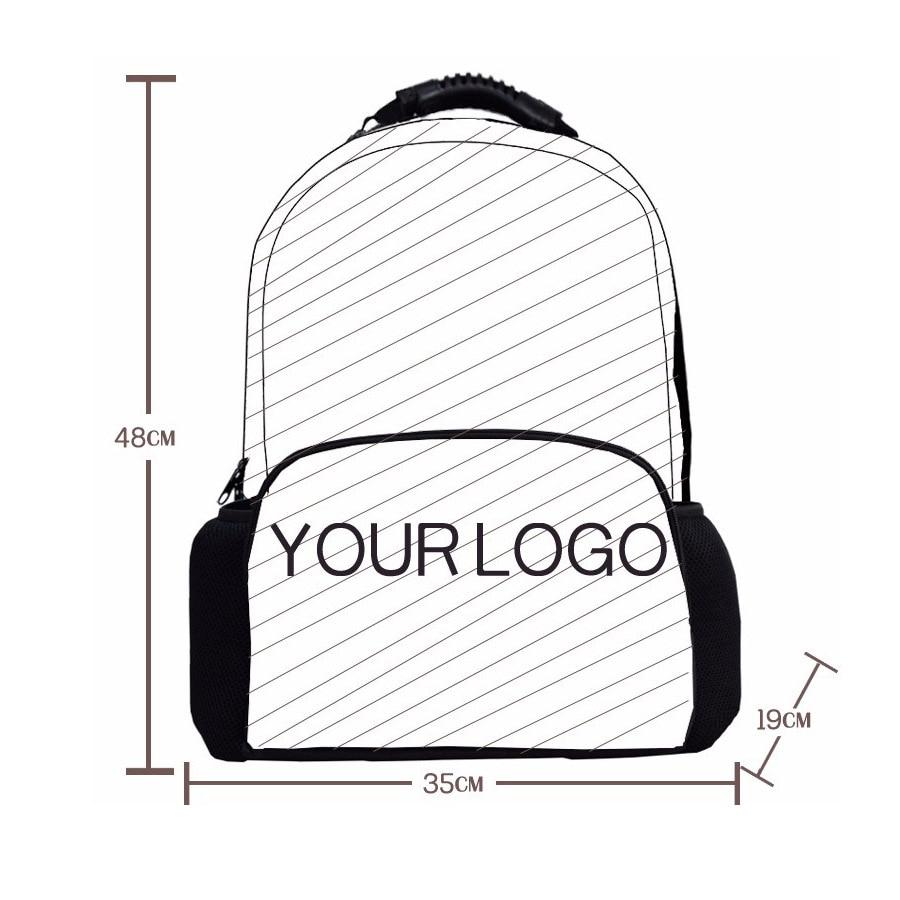 School bag diagram - Custom Your Logo Image Photo Print Individual Shoulder Bags Large Capacity School Bag 3d Animal Laptop