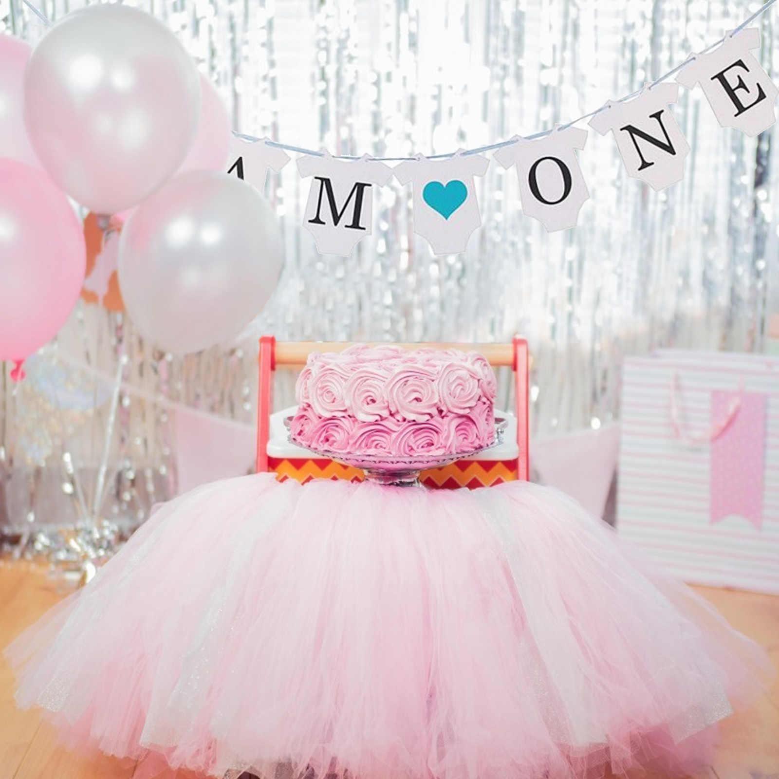 Menino Do Bebê Um Ano de Aniversário Bunting Bandeira Garland Bolo Topper Sereia cabeça do Unicórnio 1st Birthday Party Decoração do presente do Bebê Menino