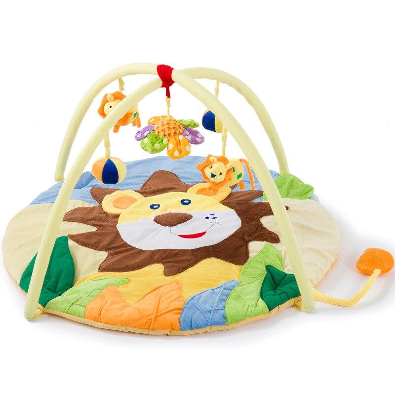 2019 chaud 0-12 mois dessin animé Lion bébé jouet jouer tapis Portable bébé enfants Sports ramper Pad éducatif jouer Gym couverture