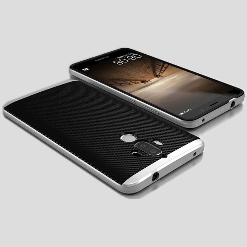 Huawei mate 9 mate9 case cubierta original haissky silicio tpu y pc híbrido de f