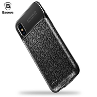 Baseus Battery Charger Case For IPhone X 3500mAh Charging Case External Backup Portable Power Bank Battery