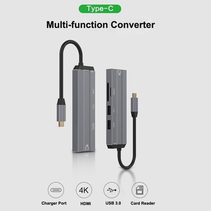 USB HUB C HUB to Multi USB 3.0 HDMI Adapter Dock for Mac Book Pro Accessories USB-C Type C 3.1 Splitter 3 Port with 8 interface
