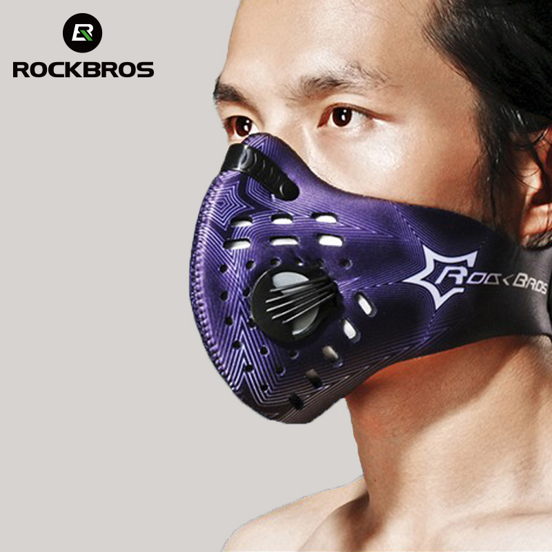 ROCKBROS BIKE Training Mask Cycling Mouth-Muffle Dust Mask Carbon Dust-proof Bicycle Sports Protect Road MTB Bike Mask Face блокнот printio лолита