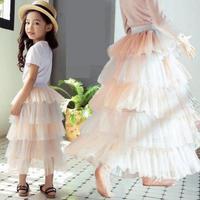 Girls Cute Striped Skirt 2019 Summer New Kids Princess Cake Skirt Baby Tutu Skirt Girls Mesh Skirt For Toddler Falda Jupe Fille