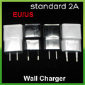 100pcs/lot standard 2A original EU/US Travel Wall Mains Charger Power Adapter 5V 2A For Samsung galaxy S5 Note 4  HTC LG Sony