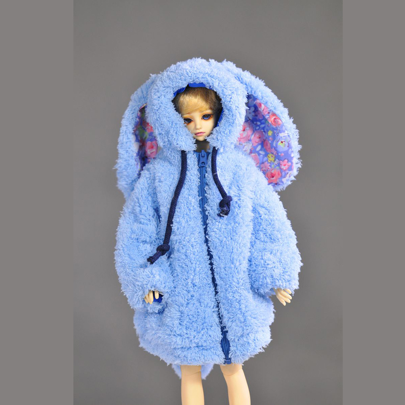 New Handmade Doll Clothes Plush Rabbit Outerwear Coat For 45-60cm Dolls BJD 1/4 or SD 1/3 Doll Clothing Toys Doll Accessories pure handmade chinese ancient costume doll clothes for 29cm kurhn doll or ob27 bjd 1 6 body doll girl toys dolls accessories