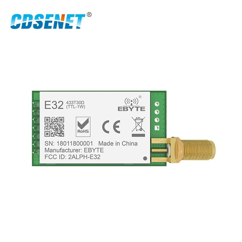 SX1278 LoRa 433 mhz 30dBm 1 watt Serial Port Transceiver E32-433T30D SMA Lange Palette 433 mhz rf Sender und Empfänger