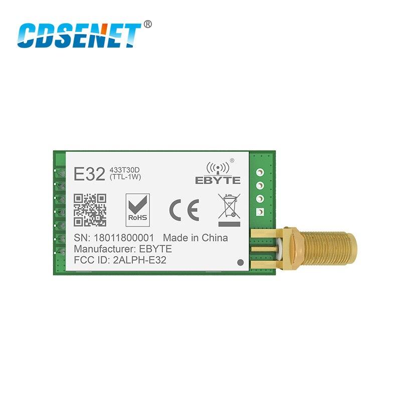 SX1278 LoRa 433 MHz 30dBm 1W Serielle Port Transceiver E32-433T30D SMA Lange Palette 433 MHz rf Sender und Empfänger