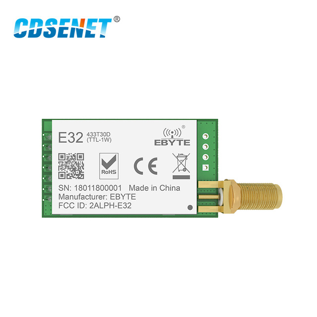 SX1278 LoRa 433MHz 30dBm 1W Serial Port Transceiver E32 433T30D SMA Long Range 433 MHz rf Transmitter and Receiver