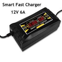 Totalmente Automático Carregador de Bateria de Carro 150V Para 250V Para 12V 6A Peak Poder de Carregamento Rápido Seco Molhado bateria de chumbo Ácido HD Display LCD Digital