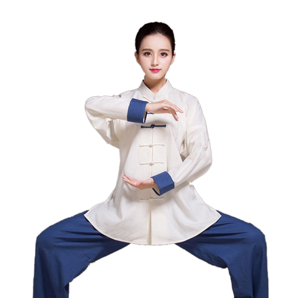 цена Chinese Traditional Linen Tai Chi Uniform Martial Art Suits Kung Fu Clothing Taiji Wushu Clothes Jackets+Pants онлайн в 2017 году