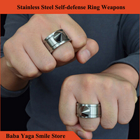 1ps self defense ring shocker weapons product survival ring tool pocket women self defense ring stainless.jpg 200x200