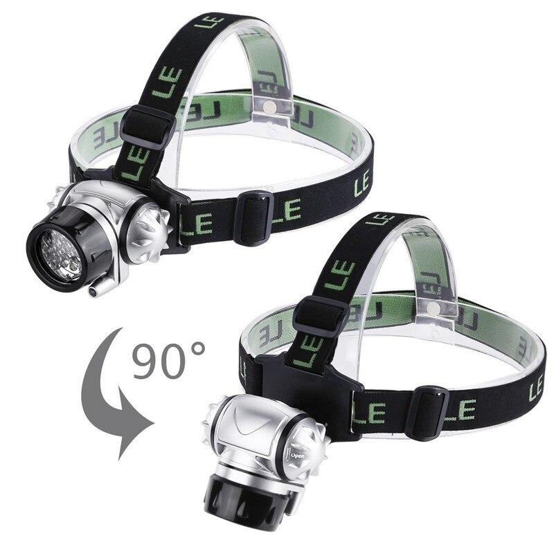 Outdoor Headlight Head Lamp Light Waterproof Mini LED Headlamp flashlight Torch Light For Working Hunting Hiking Fishing Running in Headlamps from Lights Lighting