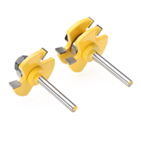 2pcs Solid Hardened Steel Tongue Groove Router Bits 1 4 Shank Anti Kickback Design Woodworking Milling