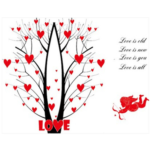 Home Decoration Love Quotes Wall Decals Angel Cupid's Arrow Tree 60d Adorable Love Quotes Kids