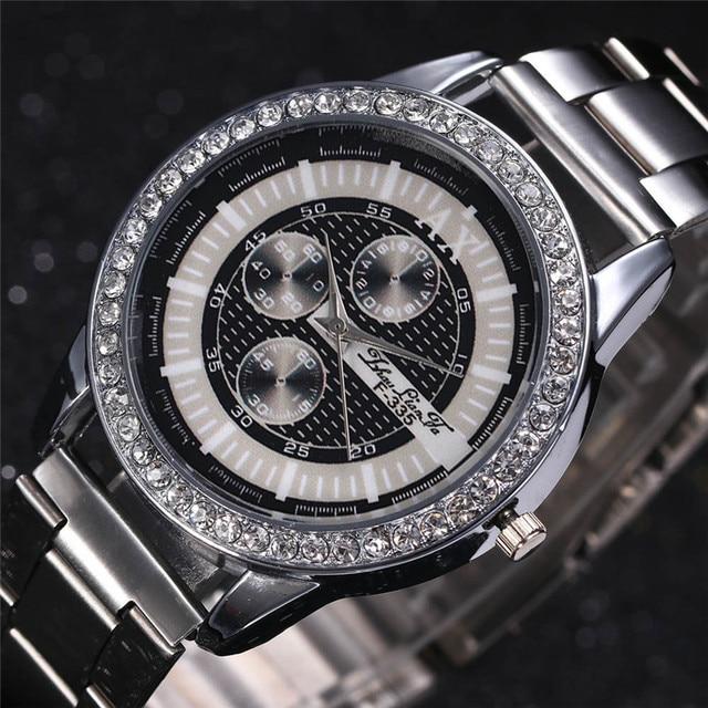 2018 Newly Mens Watches Top Brand Luxury Quartz Watch Stainless Steel Watch Men