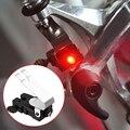 Tragbare Mini Bremse Fahrrad Licht Montieren Schwanz Hinten Fahrrad Radfahren Kunststoff Led Licht Hohe Helligkeit Wasserdichte rote LED lampe-in Fahrradlicht aus Sport und Unterhaltung bei